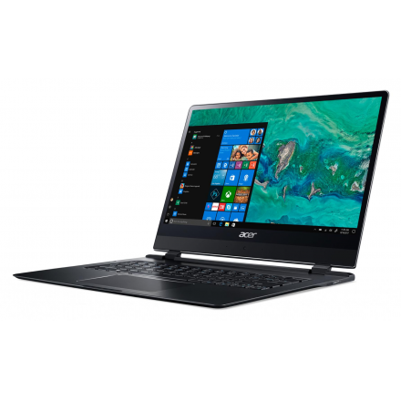 "Laptop ultraportabil Acer Swift 7 SF714-51T-M7HA cu procesor Intel® Core™ i7-7Y75 pana la 3.60 GHz, Kaby Lake, 14"", Full HD, Touch, 8GB, 256GB SSD, Intel® HD Graphics 615, Microsoft Windows 10, Obsidian Black"